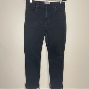 EVERLANE High Waist 90's Cheeky Black Jean 31